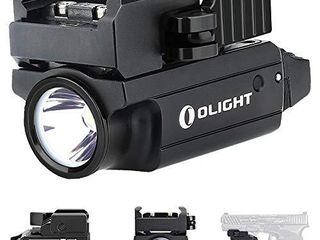 Olight Pl MINI 2 Valkyrie 600 lumens CW lED Tactical Flashlight Magnetic Rechargeable with Adjustable Rail Powered by a Built in Polymer Battery  with SKYBEN Battery Case Black