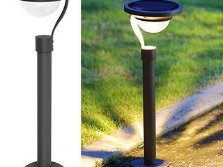 Twinkle Star 50 lumens 42X Brighter Solar Path lights Solar Garden lights  Solar landscape lights Outdoor for lawn Patio Yard Driveway  Matte Black  4 Pack