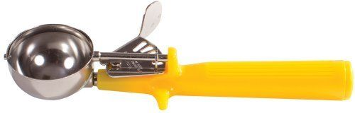 Winco Ice Cream Disher with Yellow Handle  Size 20