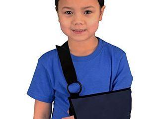 Mars Wellness Pediatric Kids Medical Shoulder and Arm Sling   Adjustable Neck Sling for Kids   Thumb loop for Added Support   Blue