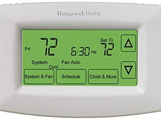 Honeywell Home RTH7600D 7 Day Programmable Touchscreen Thermostat  small  white  1 pack