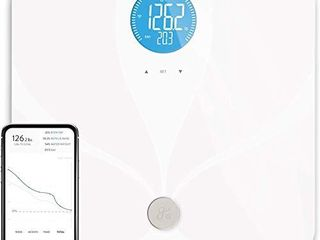 Greater Goods Digital Smart Scale for Body Weight   US Based Company Powered by Superior Service   Dependable Products    White WiFi