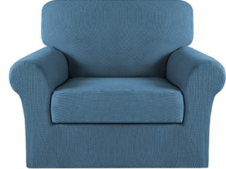 Blue Stretch Couch Cover