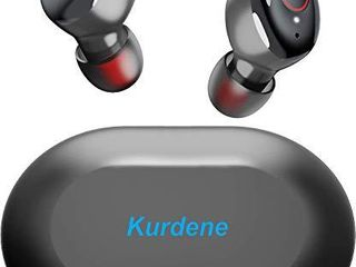 Kurdene Wireless Earbuds Bluetooth Earbuds with Charging Case Bass Sounds IPX8 Waterproof Sports Headphones with Mic Touch Control 24H Playtime  Black