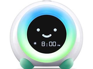 littleHippo Mella Ready to Rise Children s Sleep Trainer  Alarm Clock  Night light and Sleep Sounds Machine  Tropical Teal