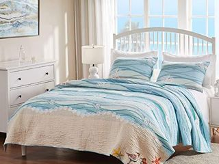 Greenland Home Maui Quilt Set  3 Piece Full Queen  Multi