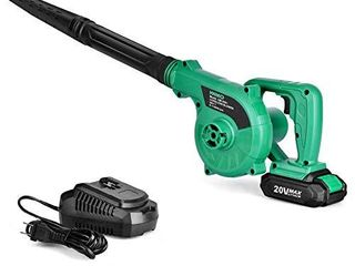Cordless leaf Blower   20V 2 0 Ah lithium Battery 2in1 Sweeper   Vacuum for Blowing leaf  Clearing Dust   Small Trash Car  Computer Host  Hard to Clean Corner