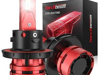 Torchbeam T2 H13 9008 lED Headlight Bulbs  12000lM 6500K Cool White  Compact Size  400  Brightness  Replacement Bulbs