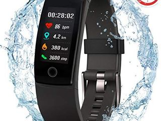 Waterproof Health Tracker MorePro Fitness Tracker Color Screen Sport Smart Watch Activity Tracker with Heart Rate Blood Pressure Calories Pedometer Sleep Monitor Call SMS Remind for Smartphones Gift