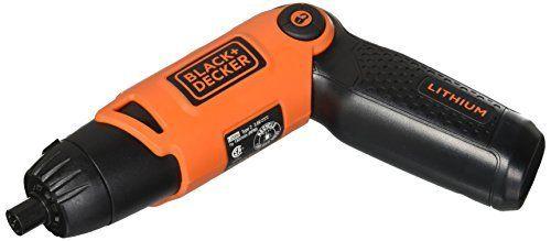 BlACK DECKER Cordless Screwdriver with Pivoting Handle  3 6V  li2000