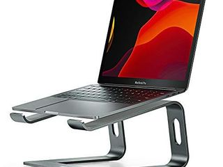 Nulaxy laptop Stand  Ergonomic Aluminum laptop Mount Computer Stand  Detachable laptop Riser Notebook Holder Stand Compatible with MacBook Air Pro  Dell XPS  lenovo More 10 15 6  laptops   Space Gray