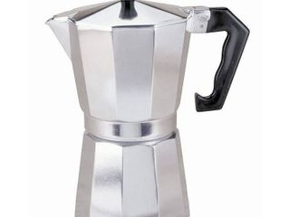 Primula Aluminum 6 Cup Stove Top Espresso Maker  Polished