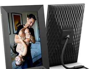 Nixplay Smart Digital Picture Frame 10 1 Inch  Share Video Clips and Photos Instantly via E Mail or App