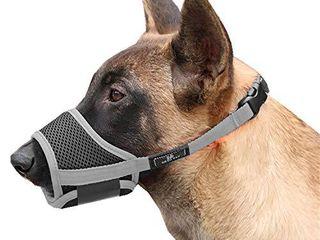 Cilkus Dog Muzzle Nylon Mesh Adjustable Breathable Soft Dog Muzzle  Anti bite  Anti Barking  Anti Chaos  Pet Anti Barking Muzzle  4 Sizes for large  Medium Dogs  Medium 01  Black