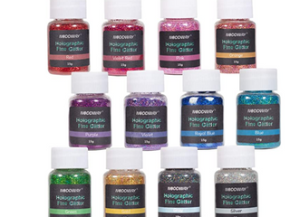 MISSING 1 COlOR  Noddyway Holographic Glitter 12 colors