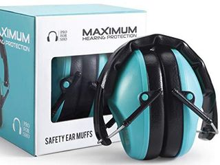 Pro For Sho 34dB Shooting Ear Protection   Special Designed Ear Muffs lighter Weight   Maximum Hearing Protection   Standard Size  Teal