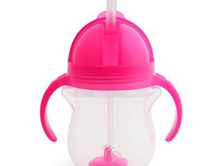 Munchkin Any Angle Click lock Weighted Straw Trainer Cup  Pink  7oz
