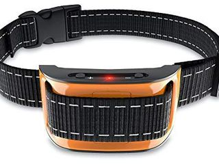 NPS No Shock Bark Collar for Small to largeDogs   Smart Chip Adjusts to Stop Barking in 1 Minute   Highly Effective Vibration and Sound Stops Barks Fast with No Pain   Safe  Anti Bark Device  Orange