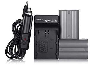 EN El3E Powerextra 2X EN El3E Battery   Charger Compatible with Nikon D50  D70  D70s  D80  D90  D100  D200  D300  D300S  D700 D900 Digital Cameras  Free Car Charger Available