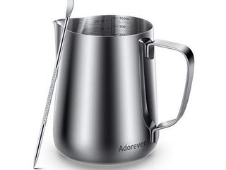 Milk Frothing Pitcher 350ml 600ml 900ml 1500ml 2000m 12oz 20oz 32oz 50oz 66oz Steaming Pitchers Stainless Steel Milk Coffee Cappuccino latte Art Barista Steam Pitchers Milk Jug Cup with Decorating Pen
