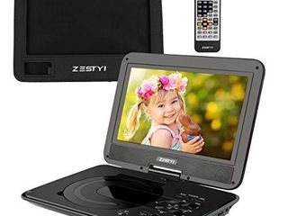ZESTYI 11  Portable DVD Player for Kids with 9  Swivel Screen  Car Headrest Mount Holder  Rechargeable Battery  Wall Charger  Car Charger  SD Card Slot  USB Port   Swivel Screen  Black