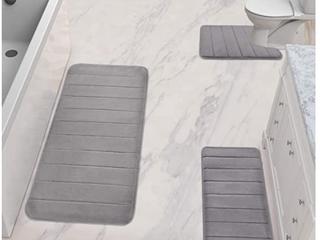 Yimobra Grey Bath Mat Set