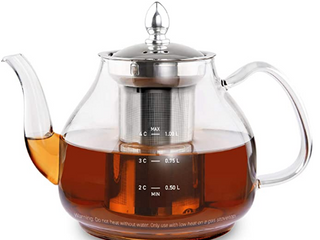 Cosori Glass Teapot With Removable Stainless Steel Infuser  Bpa Free Durable