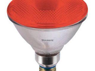 Bulbrite H90PAR38R 120V 90W PAR38 Halogen light  Red