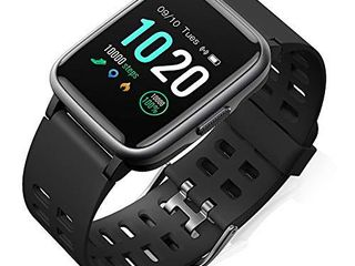 FitFort Smart Watch for Android and iOS Phone 2019 Version IP68 Waterproof  Fitness Tracker Watch with Heart Rate Monitor  Pedometer  Sleep Monitor  Calorie Counter  Smartwatch Compatible with SAMSUNG