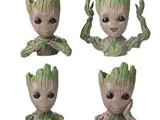 SoB Flowerpot Treeman Baby Groot Succulent Planter Cute Green Plants Flower Pot Guardians of The Galaxy