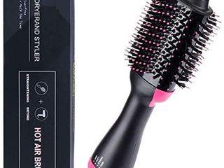 Hair Dryer Brush 3 in 1Hot Air Straightener Curler Function  Hair Styler  Anti Scald  Perfect Hot Air Brush for Women