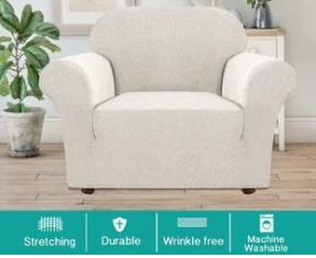 White Velvet Furniture Cover