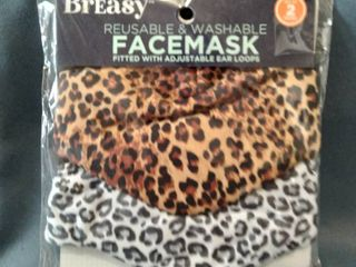 Breasy Reusable   Washable Facemask Fitted With Adjustable Ear loops
