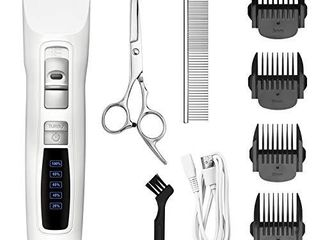 Bousnic Dog Clippers 2 Speed Cordless Pet Hair Grooming Clippers Kit   Professional Rechargeable for Small Medium large Dogs Cats and Other Pets