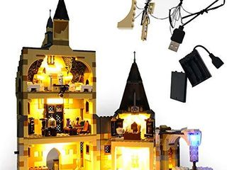 GEAMENT light Set for Harry Potter Hogwarts Clock Tower Building Blocks Model Compatible with lego 75948  lego Set Not Included