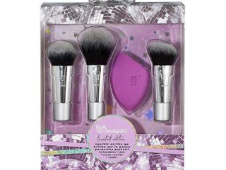Real Techniques Sparkle On The Go 4 Piece Brush Set