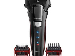 Panasonic Hybrid Wet Dry Shaver  Trimmer   Detailer with Two Adjustable Trim Attachments  Pop up Precision Detail Trimmer   Shave Sensor Technology  Cordless Razor for Men  ES ll41 K  Black