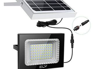 ClY 60 lED Solar lights  Outdoor Security Floodlight  300 lumen  IP66 Waterproof  Auto Induction  Solar Flood light for lawn  Garden  Black