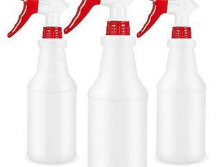 Plastic Spray Bottle Refillable Empty Spray Bottle for Cleaning for Cleaning Solution Planting Pet with Adjustable Nozzle and Measurements Bleach Vinegar BBQ etc