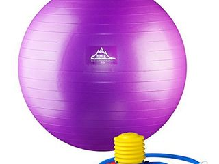Black Mountain Products Professional Grade Stability Ball  Purple  55 cm