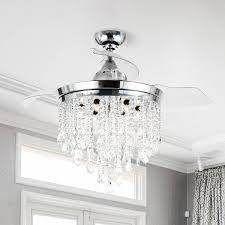 Silver Orchid Shearer Chrome 42 inch Crystal Ceiling Fan Chandelier  Retail 232 99