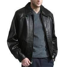 Men s Premium lambskin leather Bomber with Raglan sleeves  Retail 185 99