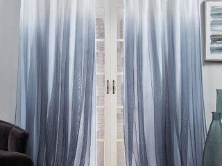 ATI Home Crescendo lined Blackout Hidden Tab Curtain Panel Pair