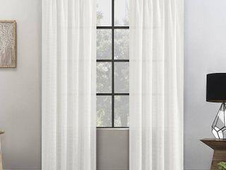 Clean Window Waffle Texture Anti Dust Curtain Panels