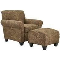 Copper Grove Bernsdorf Hand tied Paisley Arm Chair and Ottoman  Retail 552 49 brown