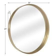 20 30  Round Art Wall Mirror Metal Frame for Entryways Washrooms living Rooms Decor  Retail 99 99 gold