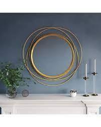 Carson Carrington lacksta Round Wall Mirror   32 H x 32 W x 1 5 D  Mirror only  21 H x 21 W  Retail 122 99 gold