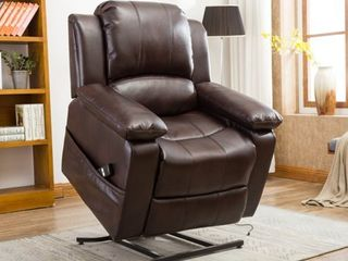 Chadsworth leather Gel lift Chair by Greyson living  Retail 705 99 brown