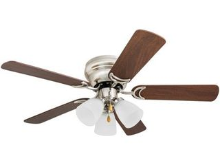 Prominence Home Whitley 42  Hugger Ceiling Fan  Satin Nickel