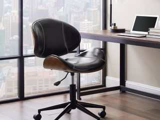 Art leon Swivel Accent Home Office Desk Chair with Casters  Retail 155 49 black